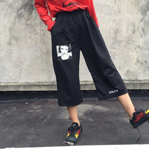 2018 Women'S Harajuku Korean Girl Loose Thin Balun Printing Pants Wild Casual Female Cute Japanese Kawaii Pant For Women-geekbuyig