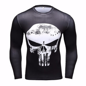 Fashion Long Sleeves Men's T-shirts 3D Prints Tight Skin Compression Shirts for Men MMA Rashguard Male Body Building Top Fitness-geekbuyig