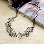 Geometric crystal statement necklace women collares 2018 new trendy jewelry wholesale gift-geekbuyig