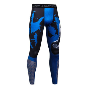 2018 Camo Mens Compression Pants High Elastic Mens Fitness Clothing Tights Leggings Bottoms-geekbuyig