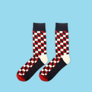 JULY'S SONG Happy Socks Mens Funny Socks Brand Cotton Men's Dress Socks Novelty Warm Art Socks Socken Herren Thick Wool-geekbuyig