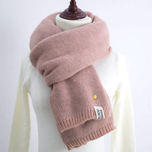 Winter Scarf Women 2017 Pineapple Scarf Female Winter Thick Long Double-sided Pure Color Knit Scarf Warm Collar-geekbuyig