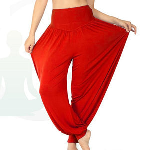 Women Long Pants Harem Modal Dancing Trouses Wide Belly Dance Comfy Boho Fitness Harem Pants DP651417-geekbuyig