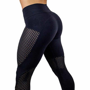 2018 New Quick-drying Yarn Leggings Fashion Ankle-Length Legging Fitness Black Leggins-geekbuyig