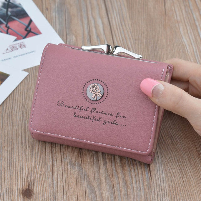 Brand Designer Small Wallets Women Leather Phone Wallets Female Short Zipper Coin Purses Money Credit Card Holders Clutch Bags-geekbuyig