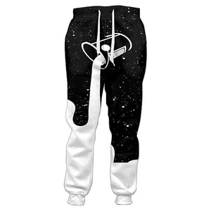 Joggers Pants Men Pouring Into The Starry Night Sky To Fill Up The Galaxy Glass Of Milk 3d Print Sweatpants Casual Trousers-geekbuyig