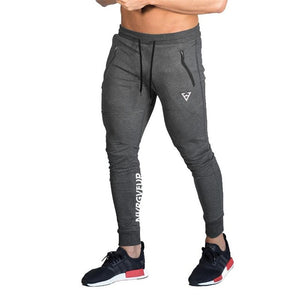 2018 New Pencil Pants Sweatpants Men Solid Workout Bodybuilding Clothing Casual GYMS Print Fitness Joggers Pant Skinny Trousers-geekbuyig