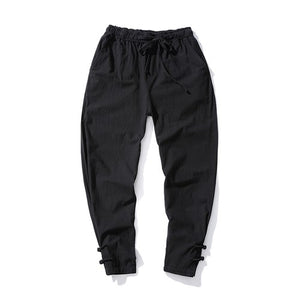 2018 Spring Harem Pants Men Thin Linen pants Elastic Waist Brand Clothing Man Joggers Pants HipHop Trousers Traditional Harajuku-geekbuyig