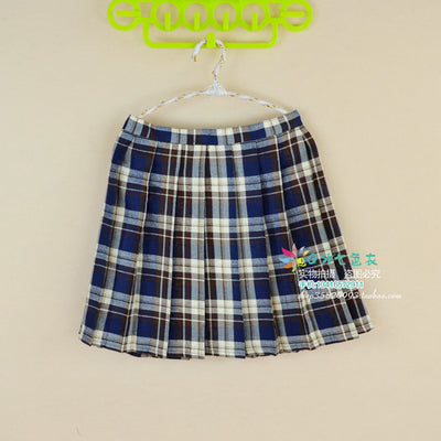2018 Women'S Harajuku Pleated College Cosplay Large Size Plaid Student High Waist Skirt Female Korean Kawaii For Women XS-4XL-geekbuyig