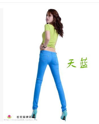 20 Colors Plus Size 2018 New Sexy Women Pants Spring Summer Casual Jeans Pencil Pants Lady Skinny Sexy Long Trousers Candy color-geekbuyig