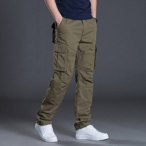 2018 Brand New Tactical Men Pants Trousers Men's Cargo Pants Casual Mens Pant Multi Pocket Military Men Outdoors Cotton Trousers-geekbuyig