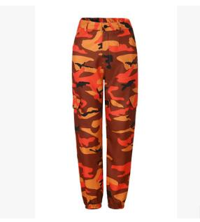 Women Spring Red Camouflage Pants Fashion Street Jean Trousers Pantalon Mujer Pencil Demin Military Pencil Pants-geekbuyig