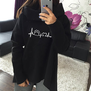 2018 Dog Paw Cartoon Print Hoodies Sweatshirts Harajuku Winter Anime Hoodies Scarf Collar Long Sleeve Fashion Autumn Pullovers-geekbuyig