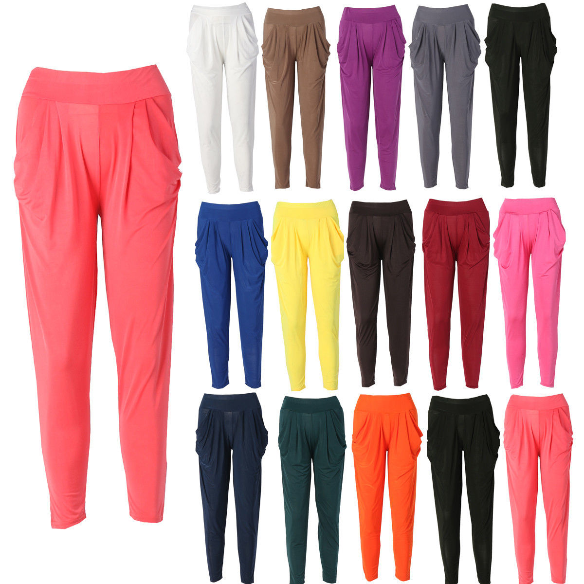 Hot Sale Summer Women Slim Casual Harem Pants Solid High Waist Long Pant Trousers Women Clothing-geekbuyig