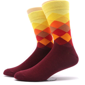 Fashion Colorful Socks Men 3D Print Plaid Striped Socks Compression Sock for Men Camouflage Casual Long Warm Winter Socks Meias-geekbuyig
