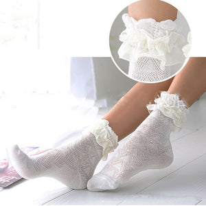 Sweet Style Harajuku Ladies Girls Vintage Girl Women Hollow Retro Cute Cotton Lace Short Sock Frilly Ruffle Ankle Socks-geekbuyig