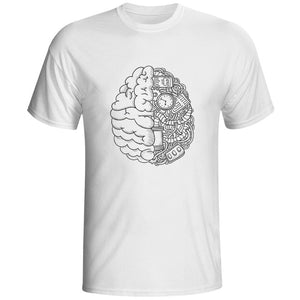 Geek Brain T Shirt Science Chemistry Biology Art Geography Math Physics Cool Fashion Punk T-shirt Casual Funny Style Unisex Tee-geekbuyig