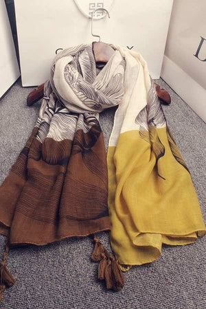 KYQIAO Winter scarf luxury brand women designer hijab scarf 2018 long wide yellow red grey patchwork floral print scarves cape-geekbuyig