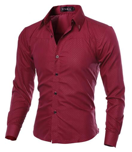 Hombre Vestir Dress 2018 Casual Slim Fit Mens Chemise Homme Men Solid Mesh Heren Hemden Camisa Masculina 5XL-geekbuyig