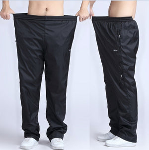 Quick Dry Mens Active Pants Plus Size 5XL 6XL Loose Fit Long Pants Men Elastic Waist Outside Exercise trousers Physical joggers-geekbuyig