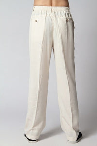 Sale White New Spring Chinese Men's Linen Kung Fu Trousers Size S M L XL XXL XXXL Free Shipping 2350-8-geekbuyig