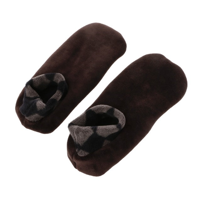 Men Thicken Winter Warm Boat Socks Non Slip Elastic Indoor Floor Socks Slipper-geekbuyig