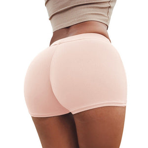 Summer Sexy Push Up Shorts Women Candy Colors Fitness Booty Short Feminino Workout Elastic Waist Short New 2018-geekbuyig