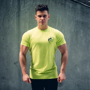 2018 New Summer Mens Gyms Short Sleeve T shirt Fitness Bodybuilding Shirts Print Fashion Male cotton clothing Brand Tee Tops-geekbuyig