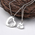 """Little Sister Big Sister"" Pendant Necklace Set Sister Necklace All Matching Fashion Jewelry Gift 2Pcs /Set-geekbuyig"