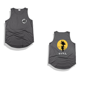 Professional Dropshipping Goku Cosplay Tank Tops Cute Print Dragon Ball Z Hip Hop Vest Cotton High Street Sleeveless Funny Tops