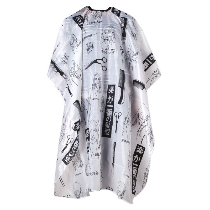 Hairdresser Barbers Hairdressing Cape Gown Cloth Haircutting Hair Cut Salon Cloth Styling Tool Black+White-geekbuyig