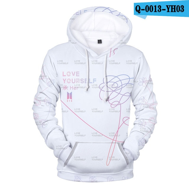 BTS 3D Print Sweatshirt Women Capless Sweatshirt K-pop Idol Fashion Hip Hop Female Capless Sweatshirt Female Fans Casual Clothes-geekbuyig