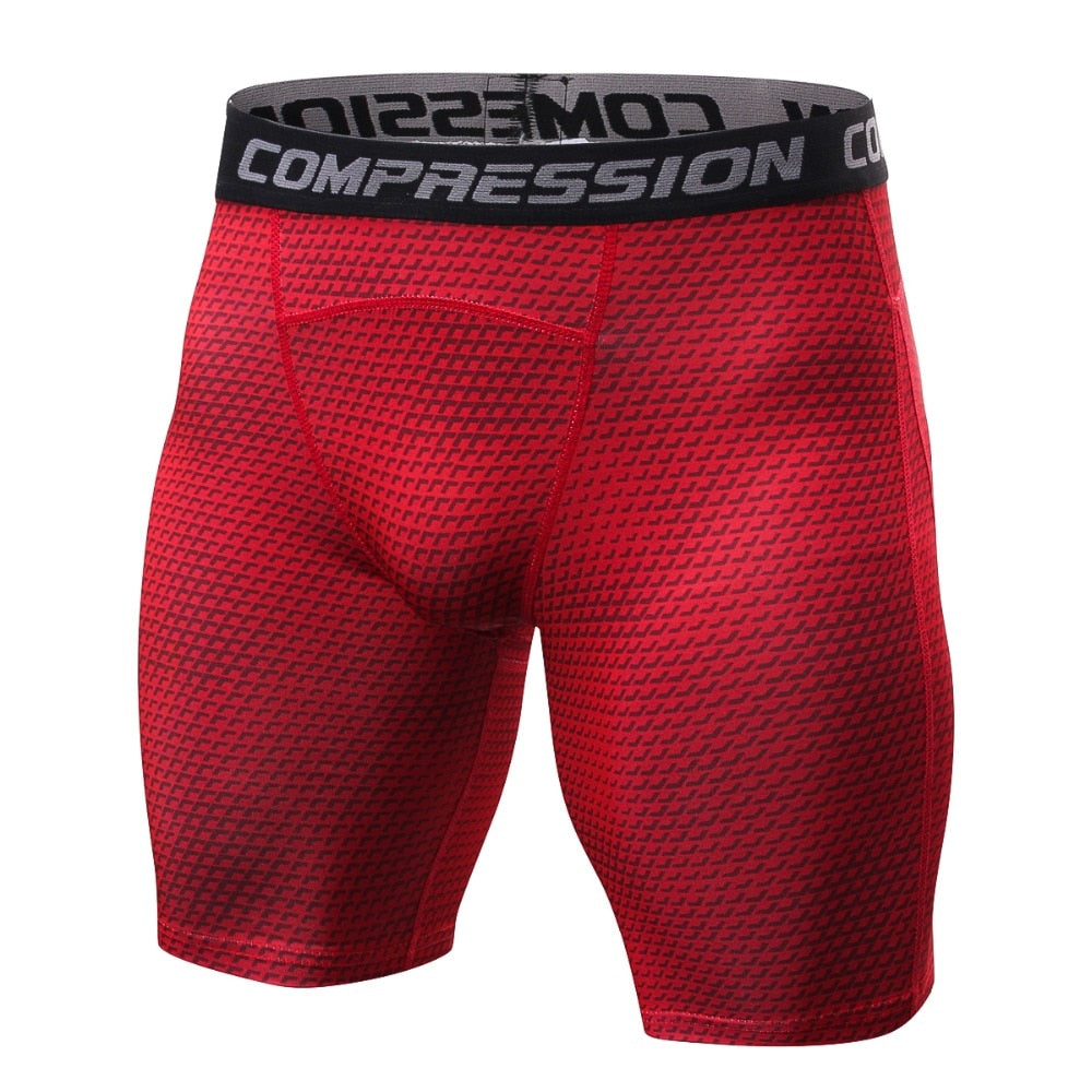 2018 new style Breathable Men's Compression Shorts MMA Workout Fitness Bottoms Crossfit Skin Tight Comouflage Short Pants-geekbuyig