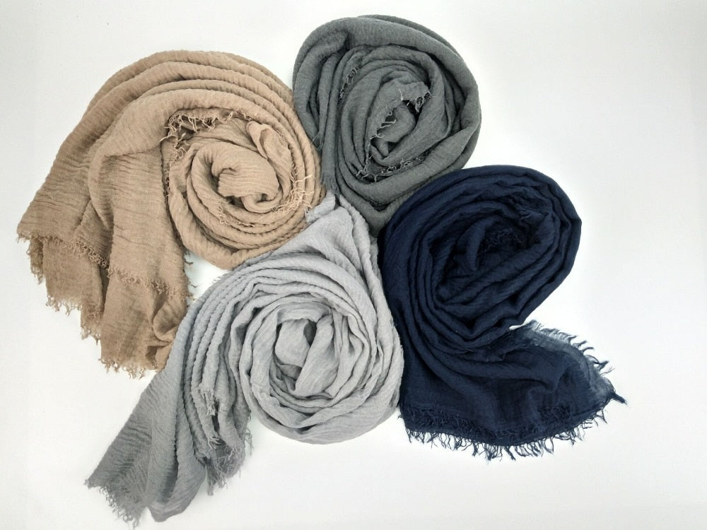 180x100cm Cotton Scarf For men fringes Popular muffler hijab women Shawls Wraps large pashmina men scarves-geekbuyig