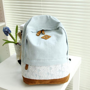 2018 New Arrival Canvas Women school bags Backpacks School Bags Laptop Backpack Canvas Backpack Backpacks For Teenage Girls-geekbuyig
