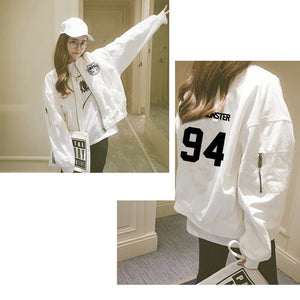 Fashion Harajuku Kawaii Hoodie Sweatshirt BTS for Girls Kpop Clothes 2018 Womens Clothing Zipper Jacket Loose Hip Hop Streetwear-geekbuyig