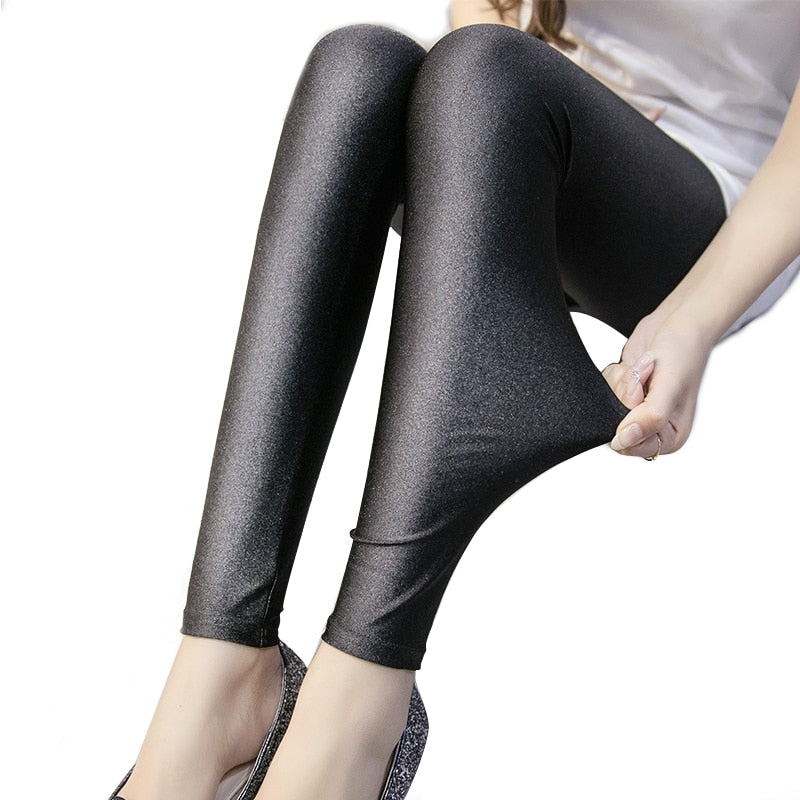 2018 Polyester Casual Leggings For Women High Elastic Material Black Fiteness Pencil Leggins Pants Streetwear Legging Plus Size-geekbuyig