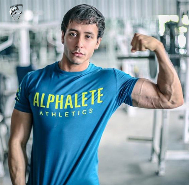 2018 summer New mens gyms T shirt Crossfit Fitness Bodybuilding Shirts Printed Fashion Male Short cotton clothing Brand Tee Tops-geekbuyig