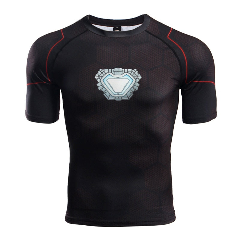 Avengers 3 Raglan Sleeve Compression Shirts Iron Man 3D Printed T shirts Men 2018 Summer NEW Comics Top For Male Black Friday-geekbuyig