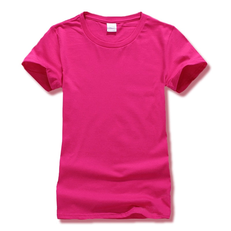 Leica Tshirt Women Tops Casual Solid Candy Color Women's T Shirt Short Sleeve Slim T-shirt Tees 2018 Clearance-geekbuyig