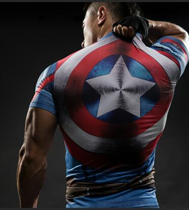 T Shirt Captain America Shield Civil War Tee 3D Printed T-shirts Men Marvel Avengers 3 iron man Fitness Clothing Male Tops-geekbuyig