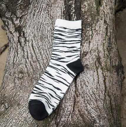 2018 New Fashion Brand Colorful Zebra Grain Striped cotton Socks for male Motorcycle Skate Men's Sock Harajuku-geekbuyig
