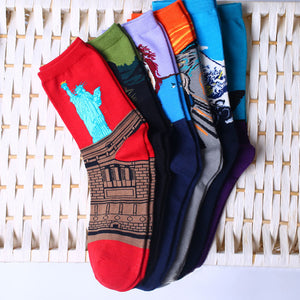 Women's Socks Mural Art Casual Socks Men Graffiti Unisex Socks Paintings Sock F05-geekbuyig