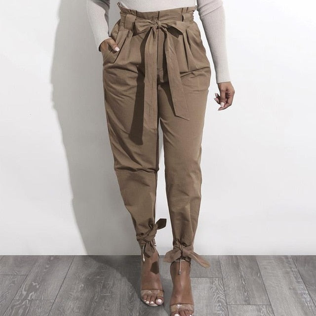 OL High Waist Harem Pants Women Stringy Selvedge Casual Pants Female 2017 Femme Trousers WS4769C-geekbuyig