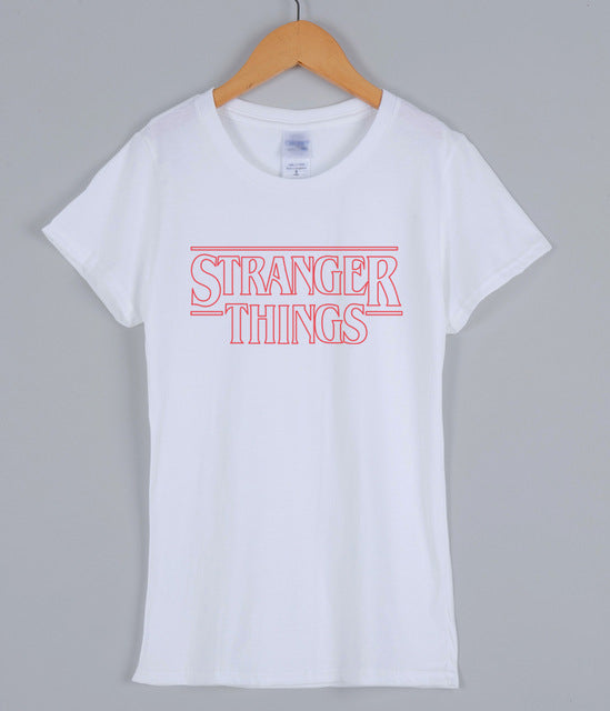 Fashion Streetwear TShirt For Women 2018 Spring Summer Harajuku Tops STRANGER THINGS Brand Cotton Short Sleeve Female T Shirt-geekbuyig