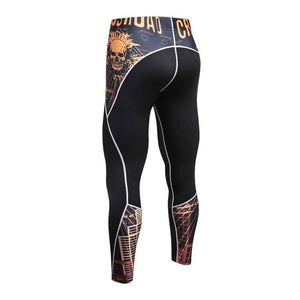 Skinny Sweatpants For Men Compression Pants Men Fashion Leggings Men Jogger Men 3D Fitness Pants Bodybuilding ElasticTrousers-geekbuyig