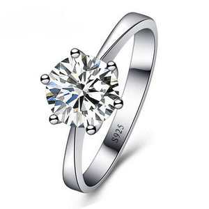 JEXXI Romantic Wedding Rings Jewelry Cubic Zirconia Ring for Women Men 925 Sterling Silver Rings Accessories-geekbuyig