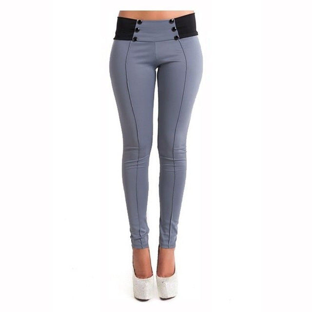 Low Waist Leggings Fashion Women Hip Push Up Pants Female ElasticTrousers Slim Pencil Capris-geekbuyig