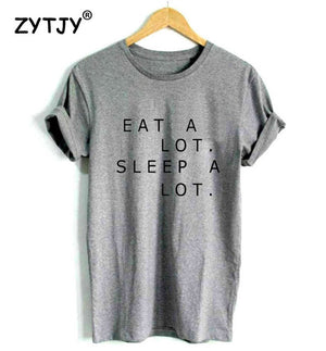 New Women Tshirt Last Clean Eat A Lot Sleep A Lot Letter Cotton Casual Funny Shirt For Lady White Top Tee Hipster Street ZT-57-geekbuyig