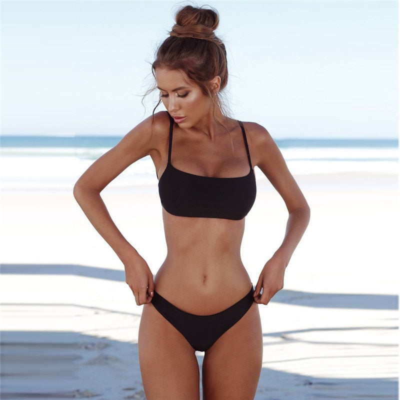 Women's Women Bandeau Bandage Set Push-Up Womens Jumpsuit For Women 2018 Summer-geekbuyig